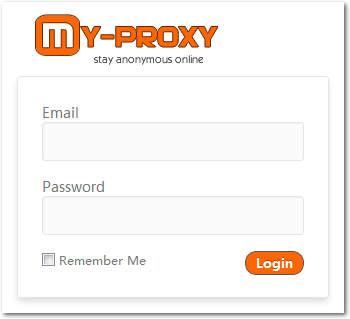 My-Proxy Customer Login