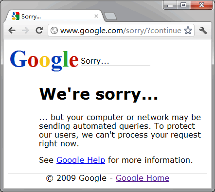 Google Proxy is permanently banned