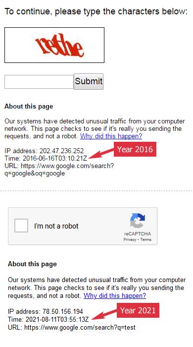 Google Block IP